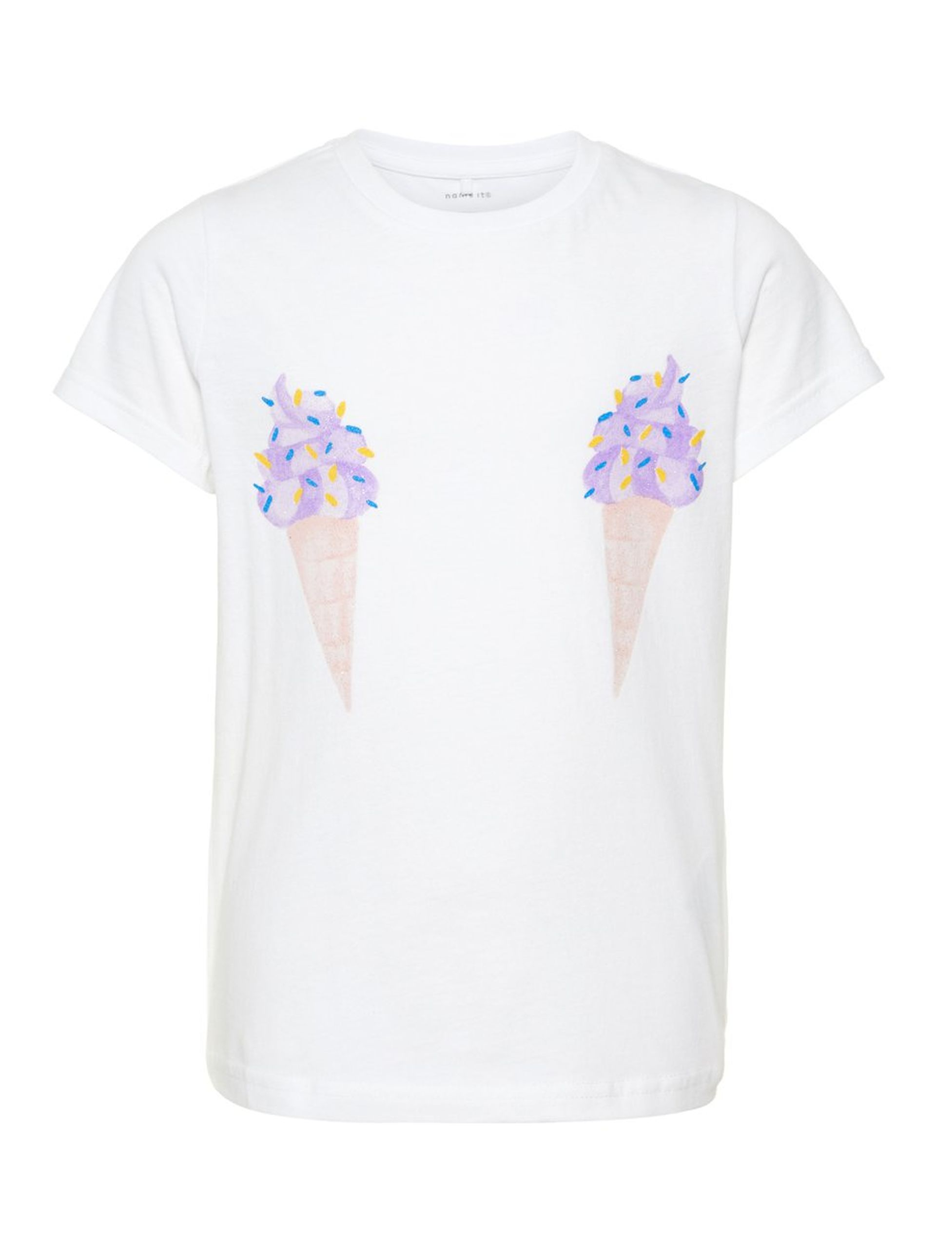 d1390824 Name It t-skjorte jente, hvit t-skjorte til barn fra Name It barneklær.