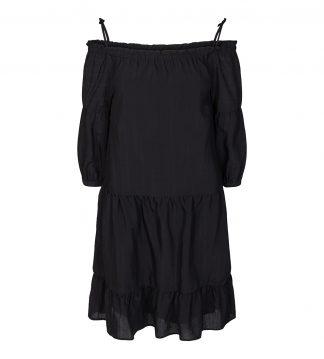 Sort kort kjole