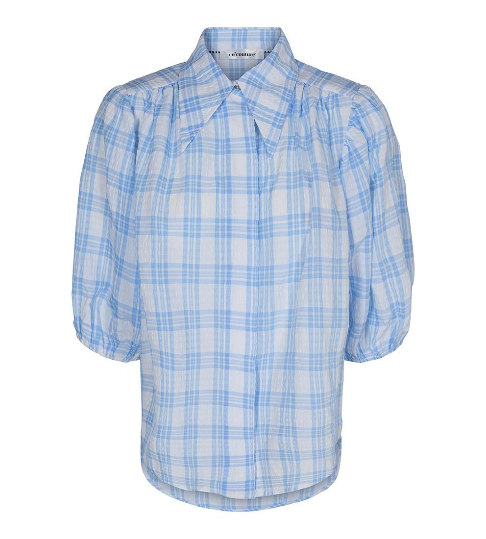 e9e6aef5 Lyse blå bluse puffarmer – Co`couture lyse blå rutete bluse – Mio Trend