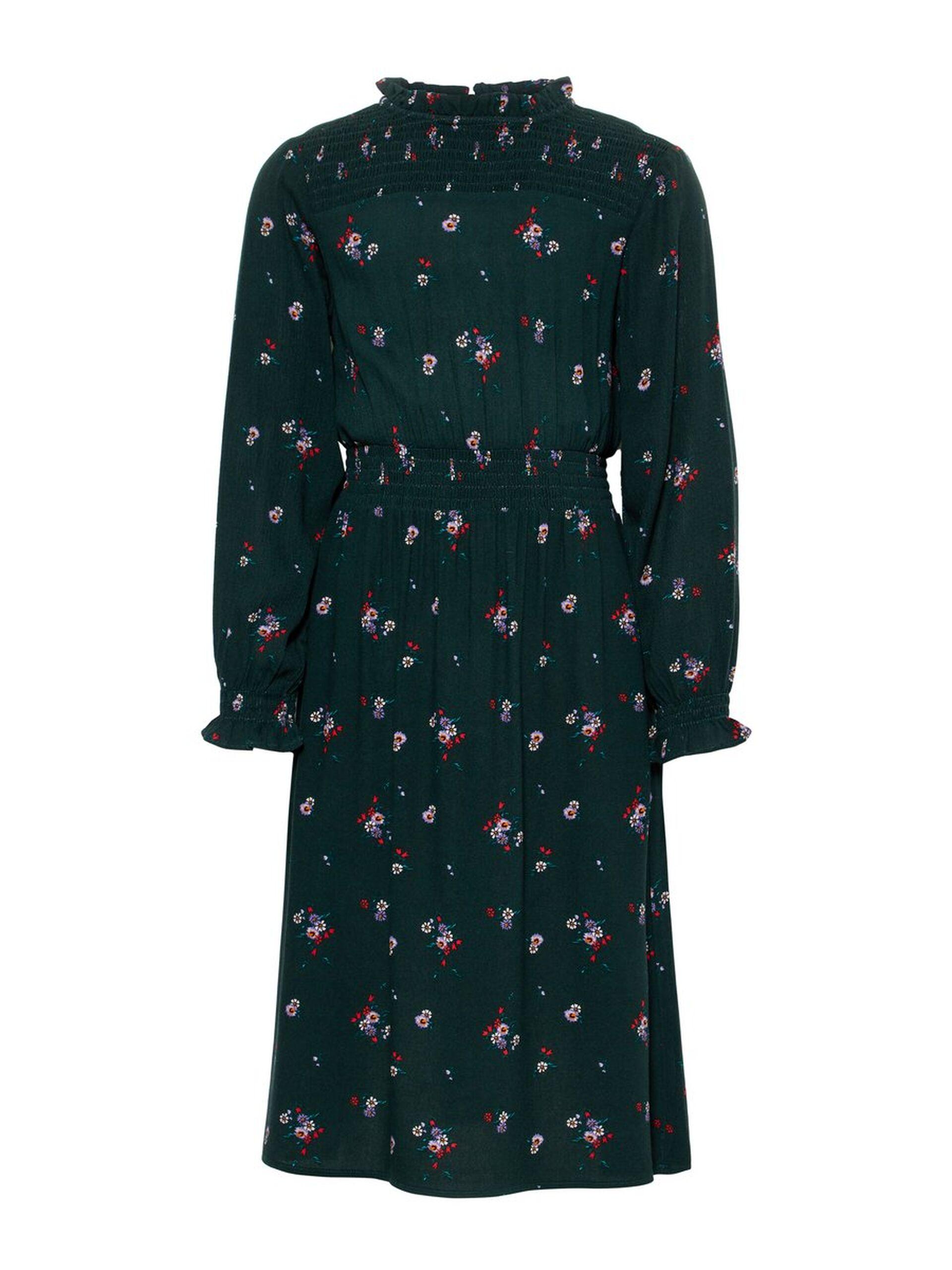 b4191c05 Grønn kjole barn, mørke grønn kjole fra Name It. Name It kjole blomster