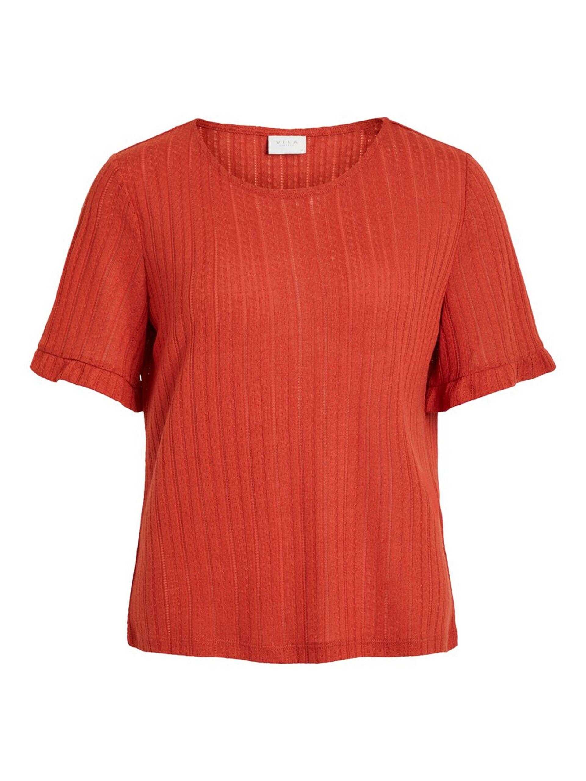 fa355391 Vila rød t-skjorte, topp fra Vila. Rød t-skjorte med rund hals og ...