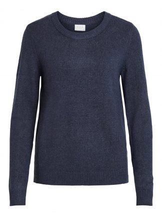 Blå strikkegenser Vila