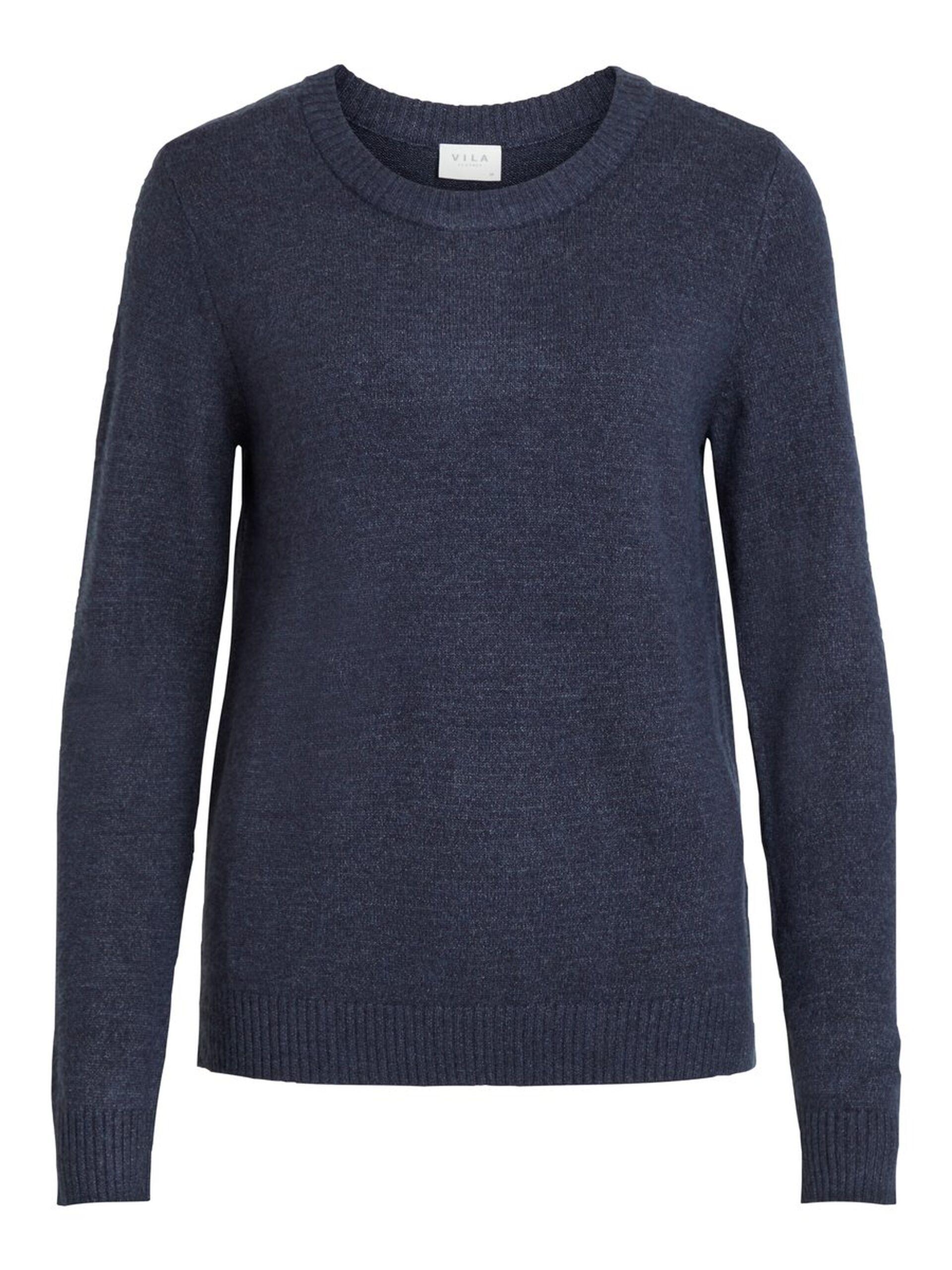 15e88c4b Blå strikkegenser Vila – Vila blå strikkegenser Viril – Mio Trend