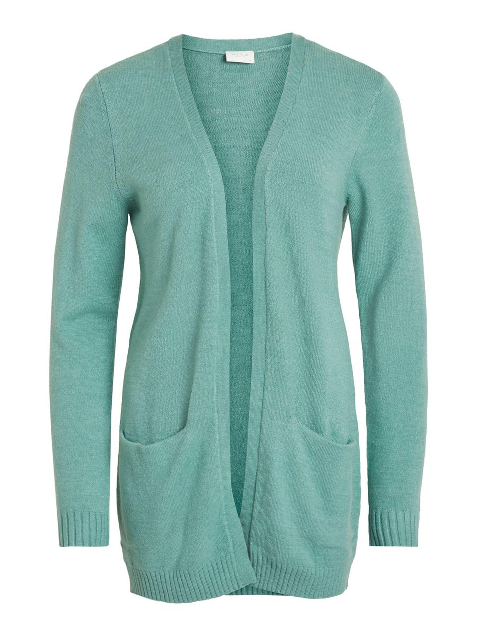 80832cd9 Vila grønn jakke, sjøgrønn strikkejakke fra Vila. Cardigan og jakke ...