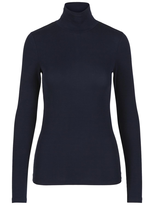 b4c597df Mørke blå pologenser, genser med høy hals. Blå pologenser til dame.