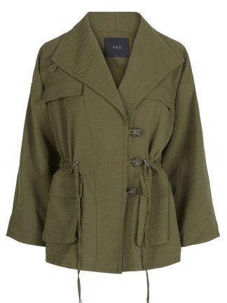 Viksa oversizet jakke grønn ruter MioTrend