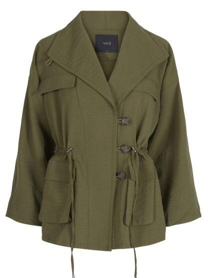 Grønn kort jakke – Y.A.S grønn jakke Yasmalla – Mio Trend