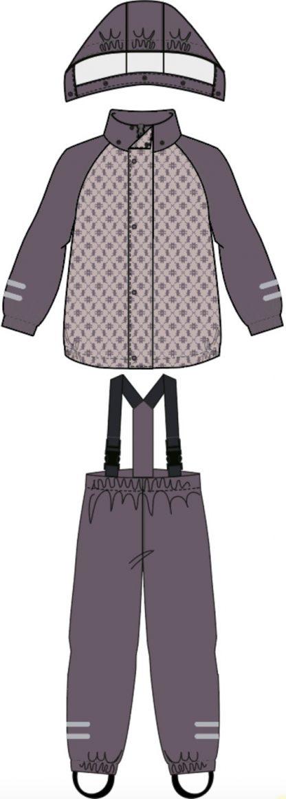 Regntøy jente Name It – Regntøy lilla regnsett Dry – Mio Trend