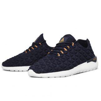 Asfvlt blå sko