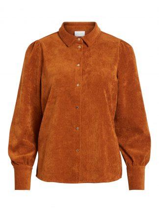 Vila skjorte babycord, bruk skjorte med gullknapper.