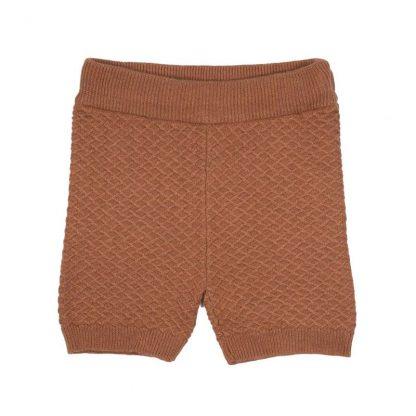 Strikkeshorts Me Mini, rustrød – Shorts rustrød strikkeshorts Jim – Mio Trend