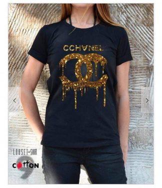 Chanel t-skjorte sort