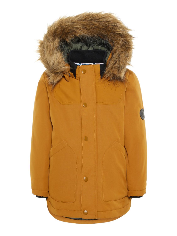 okergul brun vinterjakke MioTrend