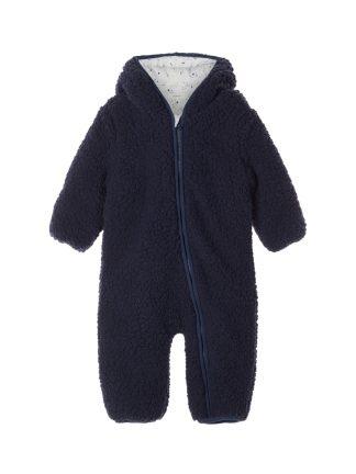 Teddydress til baby, mørke blå