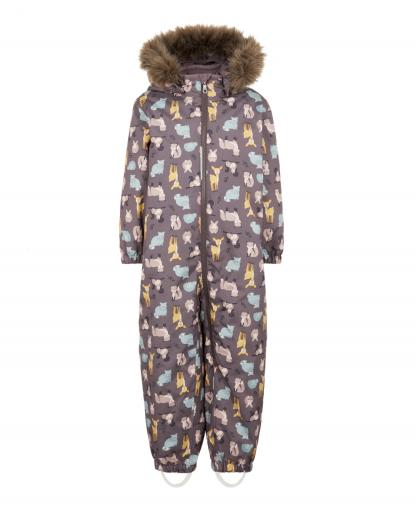 Name It vinterdress med dyr – Name It lilla vinterdress skogens dyr – Mio Trend