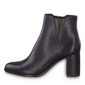 Tamaris sort ankelstøvlett