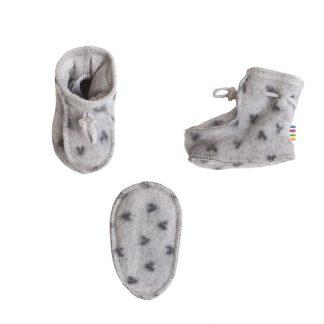 Tykke sokker baby, grå sokker fra Joha.