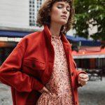 Rød jakke i ull fra Vila