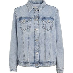 Oversized denimjakke fra Basic Apparel