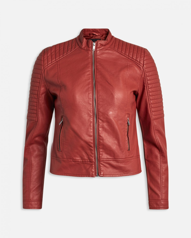 Sort jakke i imitert skinn MioTrend