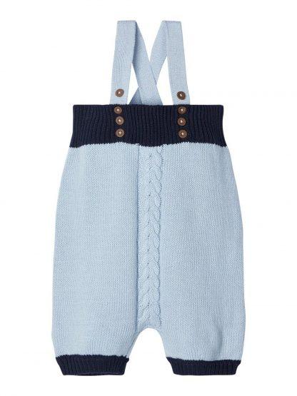 Romper baby Name It – Sparkebukse/overall lyse blå strikket romper Omindo – Mio Trend