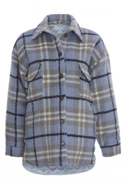 Rutete ull skjorte | VILA