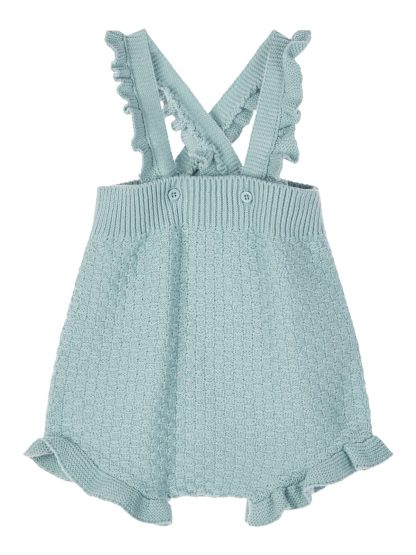 Romper til baby fra Name It. – Sparkebukse/overall grønn strikket romper Ominde  – Mio Trend