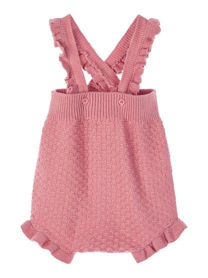 Name It seleshorts, rosa til baby jente. – Sparkebukse/overall rosa strikket romper Ominde – Mio Trend