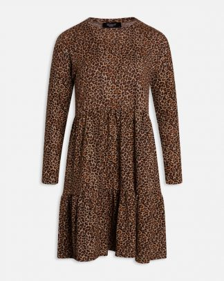 Kjole leopard, brun kjole fra Sisters Point.