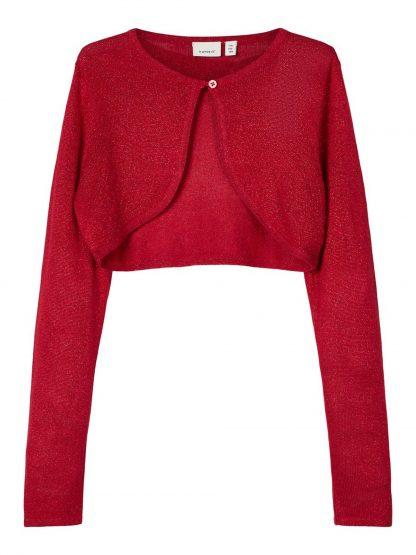 Rød bolero barn, jakke til jente fra Name It. – Name It rød bolero Rujulle – Mio Trend