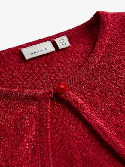 Rød bolero barn, jakke til jente fra Name It.