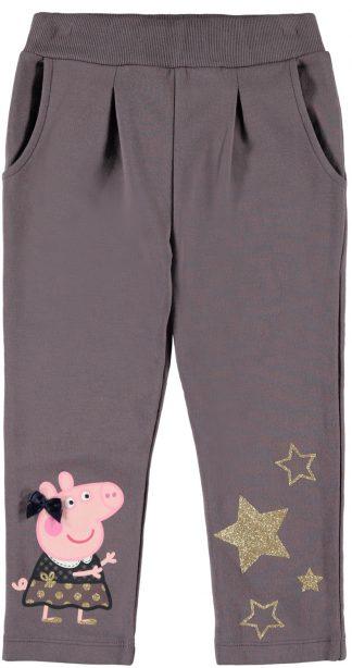 Bukse Peppa Gris, lilla joggebukse fra Name It.