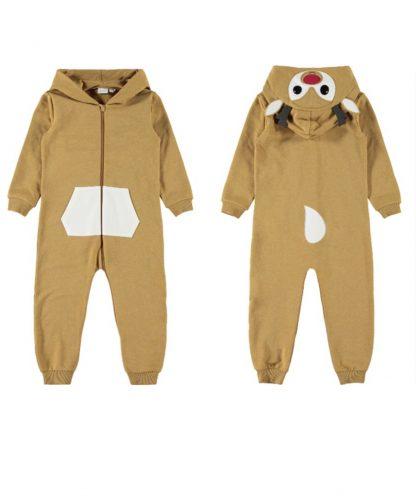 Rudolf jumpsuit fra Name It. – Name It brun Rudolf jumpsuit – Mio Trend