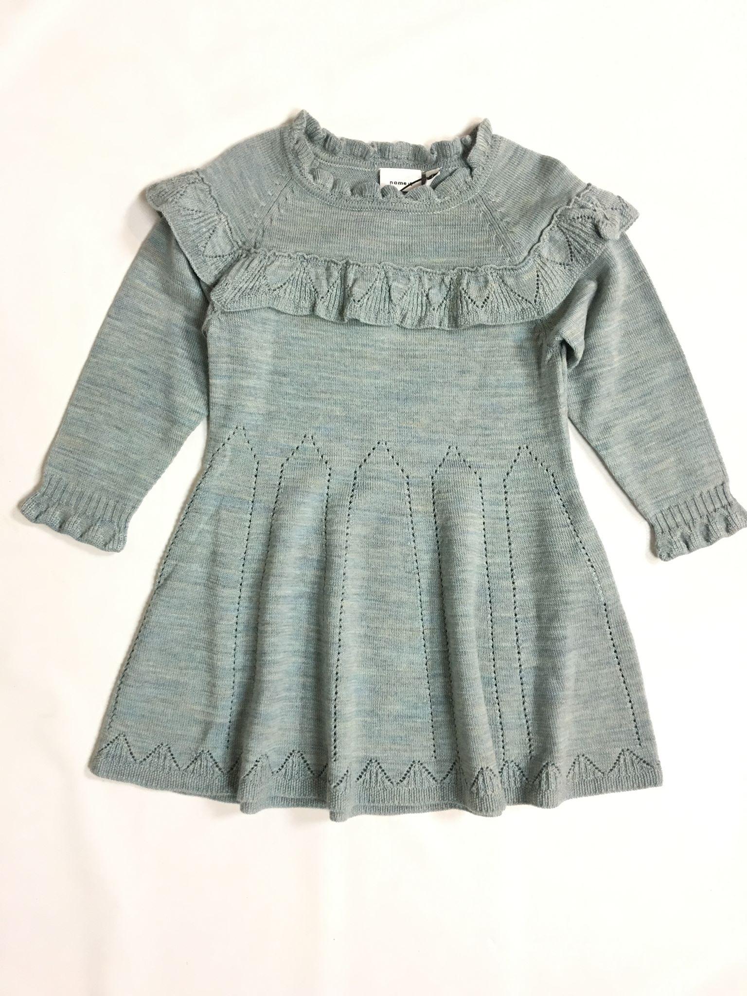 Strikket kjole barn