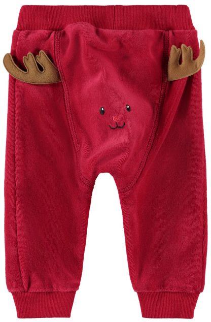 Bukse jul baby, rød bukse fra Name It. – Name It rød bukse med reinsdyr – Mio Trend