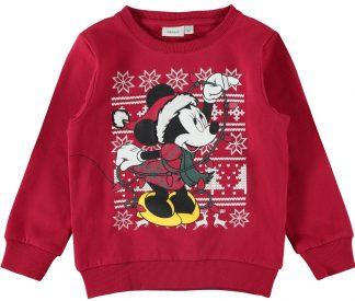 Rød julegenser barn, genser fra Name It.
