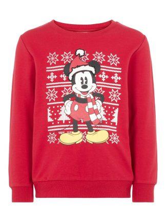 Genser julemotiv barn, rød genser fra Name It.