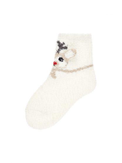 Julesokker barn, off white sokker fra Name It. – Name It off white julesokker – Mio Trend