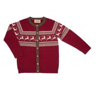 Memini juleklær, rød jakke til barn.