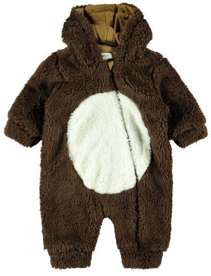 Name It teddydress til baby. – Name It brun Rudolf teddydress – Mio Trend