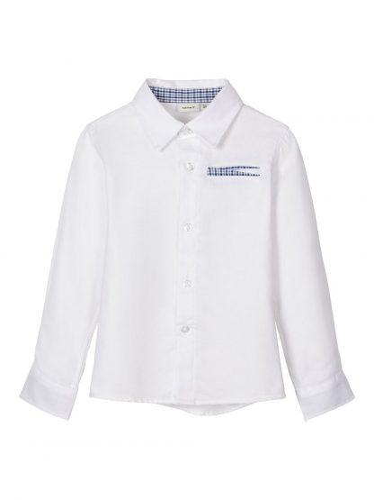 Hvit penskjorte barn, fra Name It – Skjorter og vester hvit penskjorte Rapus – Mio Trend