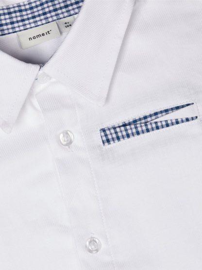Hvit penskjorte barn, fra Name It
