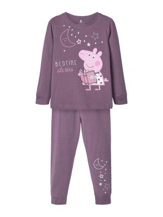 Peppa Gris pysjamas, lilla til jente.