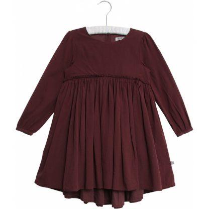 Penkjole til barn, burgunder kjole fra Wheat. – Wheat burgunder penkjole Magda – Mio Trend