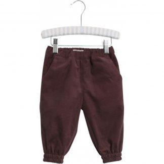 Cordbukse barn, burgunder bukse fra Wheat.