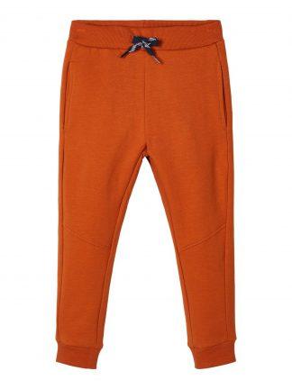 Oransje bukse barn, joggebukse fra Name It.