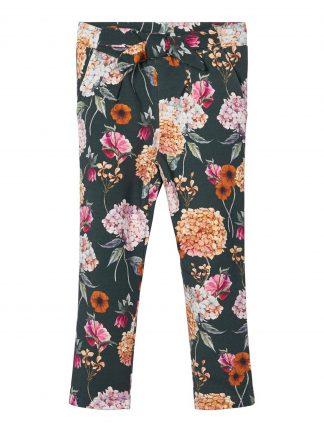Grønn bukse barn, bukse med blomster.