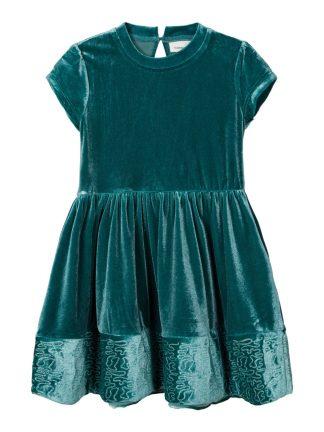 Grønn julekjole barn, kjole fra Name It.