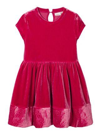 Rød julekjole barn, kjole fra Name It.