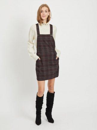 Selekjole fra Vila, brun rutete kjole.
